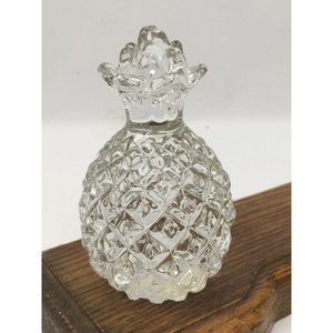 Vintage Clear Glass Pineapple Paperweight Figurine